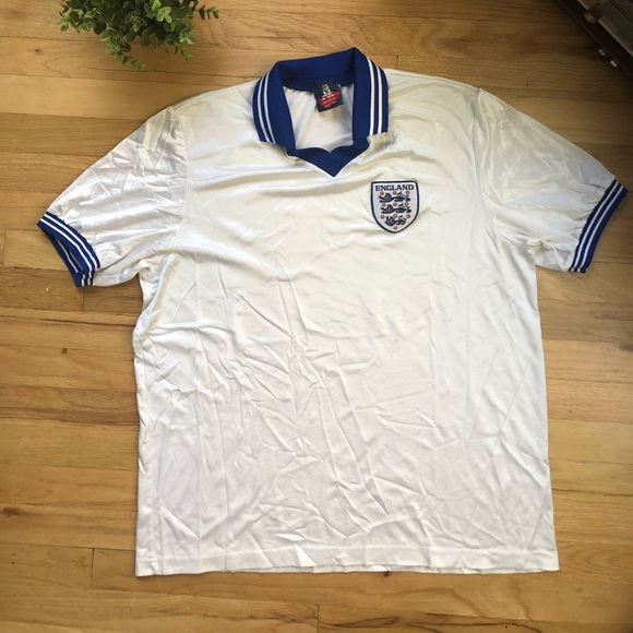 best website 24bdc dd2d9 Vintage England national team jersey! Three Lions!